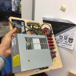 Power supply, control and monitoring unit